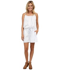 Stetson Bleached Out Tencel Romper Blue Women's Jumpsuit And Rompers One Piece