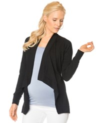 A Pea In The Pod Long Sleeve Shawl Collar Maternity Cardigan Black