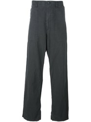 Issey Miyake Men Loose Fit Trousers Grey