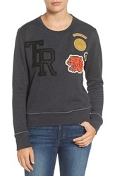 True Religion Women's Brand Jeans Patchwork Sweatshirt