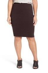Eileen Fisher Plus Size Women's Washable Wool Crepe Skirt Clove