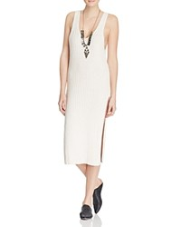 Free People Emmy Ribbed Sweater Tank Dress Ivory