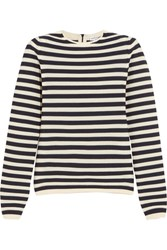Sonia Rykiel Striped Knitted Sweater Navy