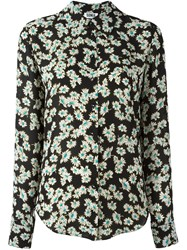Sonia Rykiel By All Over Floral Print Shirt Black