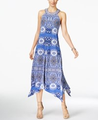 Inc International Concepts Printed Handkerchief Hem Maxi Dress Only At Macy's Blissful Medallion