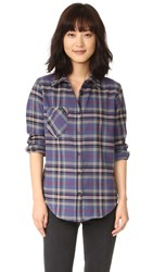 Anine Bing Plaid Shirt Multi