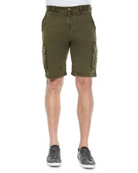 Robert Graham Globetrotter Cargo Shorts Olive Green