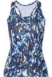 Peak Performance Cappis Printed Stretch Jersey Top Blue