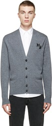 Marc By Marc Jacobs Grey 'Mj' School Cardigan