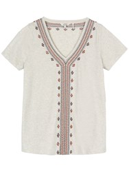 Fat Face Bosbury Embroidered Top Oat