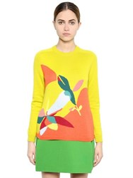 Delpozo Floral Wool Blend Sweater