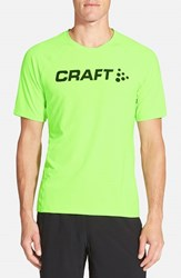 Men's Craft 'Precise' Moisture Wicking Training T Shirt Gecko Green Black