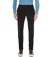 Slowear Slim Fit Tapered Corduroy Trousers Navy