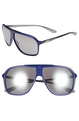Men's Carrera Eyewear 62Mm Sunglasses Blue Grey Black Mirror