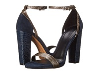 Pour La Victoire Chase Indigo Pewter Women's Dress Sandals Navy