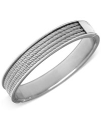 Charriol Unisex Silver Tone Cable Bangle Bracelet