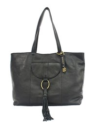 Lucky Brand Athena Leather Tote Black