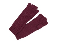 Ugg Isla Lurex Cable Fingerless Glove Aster Multi Extreme Cold Weather Gloves Red