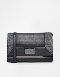 Lipsy Moc Croc Panel Clutch Bag Multi