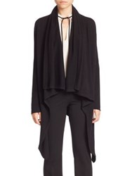 Derek Lam Open Front Draped Cardigan Ivory Black