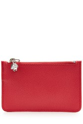 Alexander Mcqueen Zipped Leather Key Pouch Red