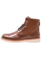 Superdry Stirling Laceup Boots Saddle Brown