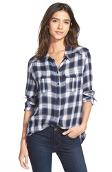 Paige 'Mya' Plaid Western Shirt Black Indigo Royale