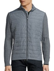 Zachary Prell Puffer Vest Jacket Charcoal