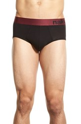 Men's Naked Tencel Blend Briefs Black Zinfandel