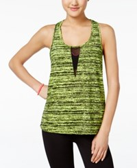 Material Girl Active Mesh Back Printed Tank Top Only At Macy's Static Limearita