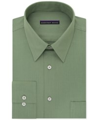 Geoffrey Beene Men's Big And Tall Classic Fit Wrinkle Free Bedford Cord Solid Dress Shirt Ivy