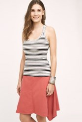 Anthropologie Striped Racer Tank Black And White
