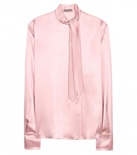 Bottega Veneta Silk Satin Blouse Pink