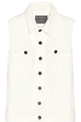 Proenza Schouler Ps Denim Vest Cream