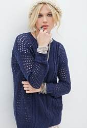Forever 21 Open Knit Fisherman Sweater