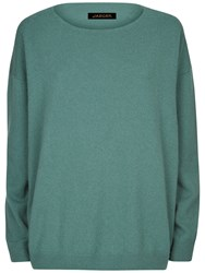 Jaeger Cashmere Slouchy Jumper Green
