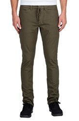 Volcom Men's 'Vsm Gritter' Tapered Chinos Military
