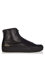 Common Projects Tournament High Top Leather Flatform Trainers Black