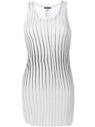 Ann Demeulemeester Striped Tank Top White