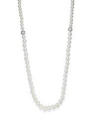 Cz By Kenneth Jay Lane 10 12Mm Mother Of Pearl Necklace Silver