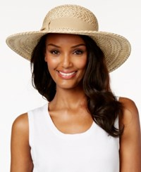 August Hats Straw Burst Floppy Sun Hat Black