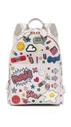 Anya Hindmarch Allover Wink Stickers Backpack Chalk