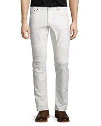 Belstaff Eastham Coated Slim Fit Moto Jeans White
