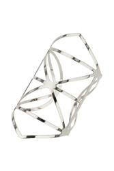 Topshop Outline Detail Cuff Silver