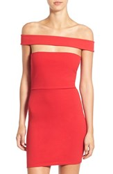 Missguided Women's Cutout Off The Shoulder Body Con Dress Red