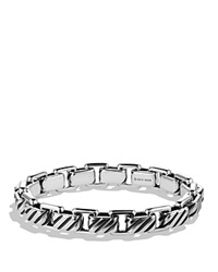 David Yurman Modern Cable Empire Link Bracelet Silver