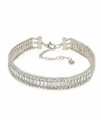 Lydell Nyc Crystal And Rhinestone Choker Necklace
