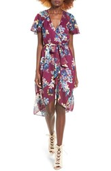 Band Of Gypsies Women's Bp. Floral Wrap Dress