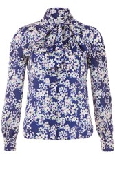 Wolf And Whistle Blossom Bow Blouse Multi Bright