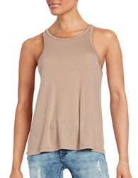 Free People Long Beach Ribbed Tank Top Natural